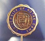 Click here to enlarge image and see more about item C393s: University of Notre Dame Stick Pin