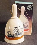 Click here to enlarge image and see more about item C399: Ceramic Bell with Horse & Buggy ~ MIB