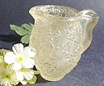 Click here to enlarge image and see more about item C400: Daisy and Button Glass Toothpick ~ Vintage