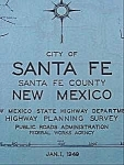 Highway Map - 1949 Santa Fe, New Mexico
