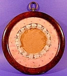 Click here to enlarge image and see more about item C430: Brown Bakelite Round Antique Frame - 8 Inch Diameter
