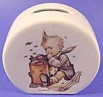 Click here to enlarge image and see more about item C431: Honey Lovers Porcelain Hummel Bank with Key