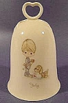 Click here to enlarge image and see more about item C463: Precious Moments Porcelain July Bell