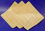 Click here to enlarge image and see more about item C524: Pale Yellow Damask Napkins ~ Set of 3