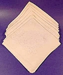 Click here to enlarge image and see more about item C525: Cream Damask Napkins ~ Set of 6