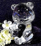 Fenton Crystal Bear Art Glass Paperweight