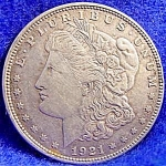 Morgan Type Silver Dollar - 1921 D