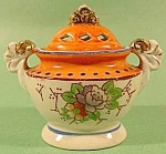 Click here to enlarge image and see more about item C585: Hand Painted Incense Burner Censer - Porcelain