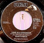 Click here to enlarge image and see more about item C5: Eurythmics ~ 45RPM Recording ~ Love Is A Stranger