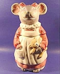This mouse cookie jar is by House of Lloyd and was made in Taiwan. It has slight crazing and a small amount of cold paint missing. It dates 1980 to 1990. (Information was contributed by a kind Tias cu...