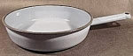 Click here to enlarge image and see more about item C67: Deep Graniteware Blue Stew Pan - Vintage