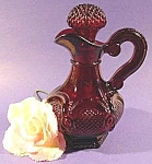 Click here to enlarge image and see more about item C683: Cape Cod Red Glass Cruet