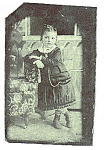 Click here to enlarge image and see more about item C698: Daguerreotype of Little Girl In Period Clothing