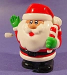 Santa Claus White Knob Windup Toy