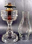 Click here to enlarge image and see more about item C731: Antique Kerosene Oil Lamp ~ P & A ~ 1800's