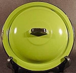 Green Graniteware Lid with Black Trim - 8-7/8 inch