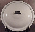 Light Blue Graniteware Lid with Black Trim - 11 inch