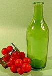 Click here to enlarge image and see more about item C751: Cork Top Green Glass Bottle