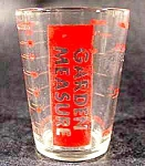 Click here to enlarge image and see more about item C756: Glass Garden Measure - Red Print