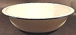 White Graniteware Wash Basin w/ Black Trim - 12-1/2 in