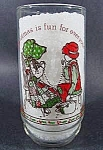Click here to enlarge image and see more about item C769: Holly Hobbie Christmas 1977 Limited Edition Glass