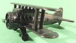 Click here to enlarge image and see more about item C773: Metal Biplane Airplane Pencil Sharpener ~ Hong Kong