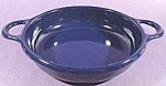 Navy Blue Two Handled Graniteware Bowl - 7 inch