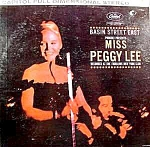 Click here to enlarge image and see more about item C839: Peggy Lee LP Record ~ Basin Street East ~ 1960 Capitol