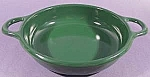 Hunter Green Graniteware Handled Bowl - 7 inch