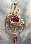 Amethyst Freeform 14K Yellow Gold Pendant - 20 in Chain