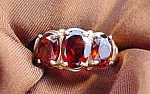 Click to view larger image of Garnet Ring - 10K Yellow Gold Ring - Size 7 (Image1)