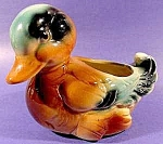 Click here to enlarge image and see more about item D9: Ceramic Duck Planter ~ Cute As Can Be