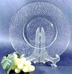 Click here to enlarge image and see more about item D119: Crackle Pattern Salad Plate - McKee Glass - 1920s