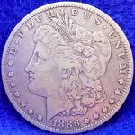 Click to view larger image of Morgan Type Silver Dollar Coin - 1886-O (Image1)