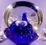 Click to view larger image of Sabina Glass Paperweight - Controlled Bubbles (Image1)