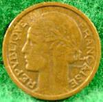 Click to view larger image of France 1 Franc Coin - 1940 (Image2)