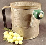 Click to view larger image of Tin Antique Sifter - Late 1800s - HODGES (Image1)