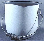 Click here to enlarge image and see more about item D26: Light Blue Graniteware Pail with Black Trim - Vintage