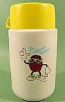 Click here to enlarge image and see more about item D28: California Raisin Plastic Thermos Bottle - 1987