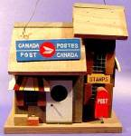 Click here to enlarge image and see more about item D347: Canada Post Office Bird House - Wood