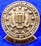 Click here to enlarge image and see more about item D363s: F.B.I Pin ~ Los Angeles Federal Bureau of Investigation