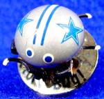Click here to enlarge image and see more about item D364: Dallas Cowboys Victory Bug Trembler Pin