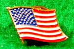 Click here to enlarge image and see more about item D372: American Flag Lapel Pin - USA
