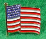 Click here to enlarge image and see more about item D373: American Flag Lapel Pin - Vintage - U.S.