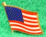 Click here to enlarge image and see more about item D374: American Flag Lapel Pin - U.S. - Vintage