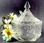 Click here to enlarge image and see more about item D383: TIARA Colonial Candy Dish - Indiana Glass
