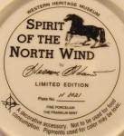 Click to view larger image of Herman Adams Indian Plate - Spirit of the South Wind (Image2)