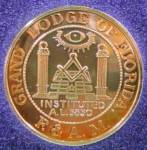 Click here to enlarge image and see more about item D443: Masons of Florida 1994 - W.L. Dawson .999 Fine Silver