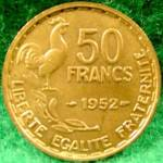 Click to view larger image of France 50 Franc Coin ~ 1952 (Image1)