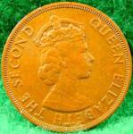 Click to view larger image of British Caribbean Territories 2 Cent Coin - 1965 (Image2)